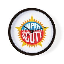 Super Scott Wall Clock