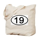 Number 19 Oval Tote Bag