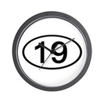 Number 19 Oval Wall Clock