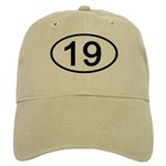 Number 19 Oval Cap