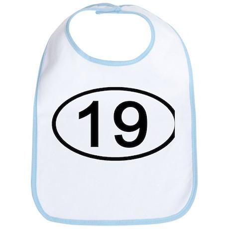 Number 19 Oval Bib