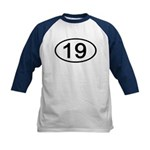 Number 19 Oval Kids Baseball Jersey