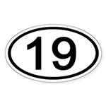 Number 19 Oval Oval Sticker