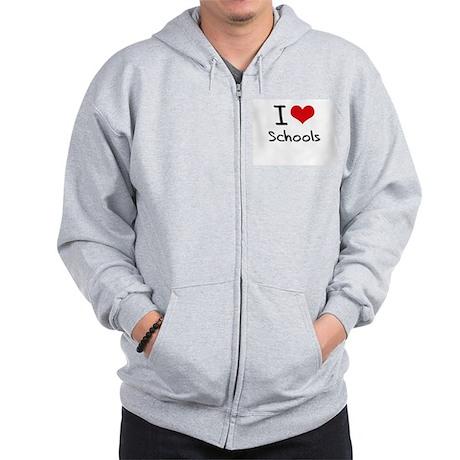 I Love Schools Zip Hoodie