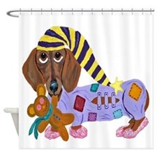 Dachshund Bedtime Shower Curtain