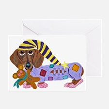 Dachshund Bedtime Greeting Card
