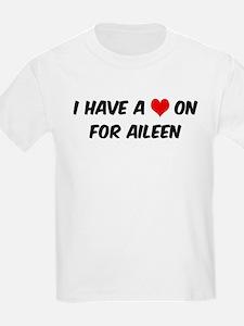 Heart on for Aileen Kids T-Shirt