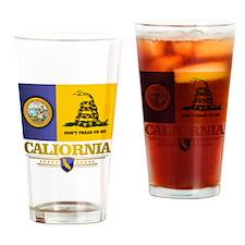 California Gadsden Flag Drinking Glass