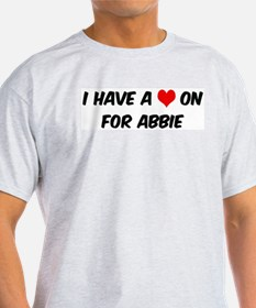 Heart on for Abbie Ash Grey T-Shirt