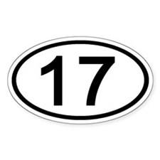 Number 17 Oval Oval Decal