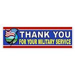 MILITARY BUMPER STICKER Bumper Sticker