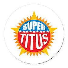 Super Titus Round Car Magnet