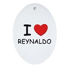 I love Reynaldo Oval Ornament