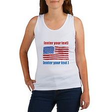 US flag artistic Women's Tank Top