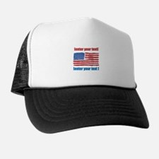 US flag artistic Trucker Hat