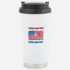 US flag artistic Stainless Steel Travel Mug