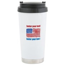 US flag artistic Travel Mug