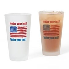 US flag artistic Drinking Glass