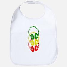 Rastafarian Color Stencil Style Headphones Bib