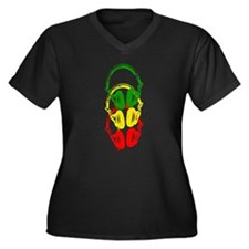 Rastafarian Color Stencil Style Headphones Plus Si