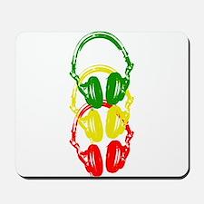 Rastafarian Color Stencil Style Headphones Mousepa
