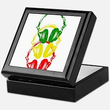 Rastafarian Color Stencil Style Headphones Keepsak