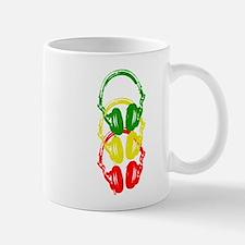 Rastafarian Color Stencil Style Headphones Mug