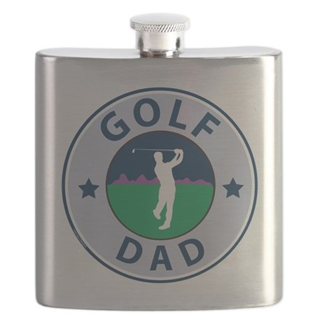 Golf Dad Fathers Flask