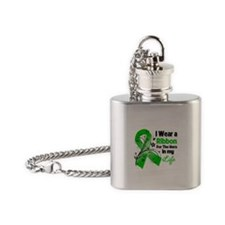 Ribbon Hero MITO Awareness Flask Necklace