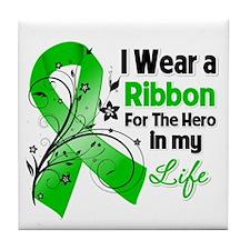 Ribbon Hero MITO Awareness Tile Coaster