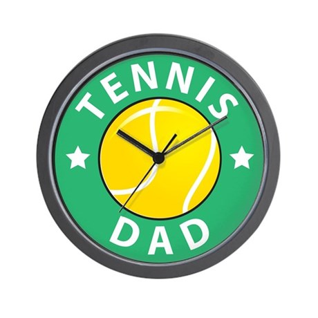 Tennis Fathers Day Wall Clock by lesrubadesigns