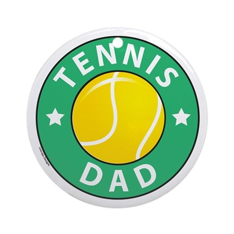Tennis Fathers Day Ornament (Round)
