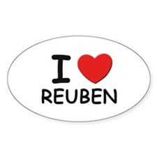 I love Reuben Oval Decal