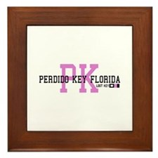 Perdido Key - Varsity Design. Framed Tile