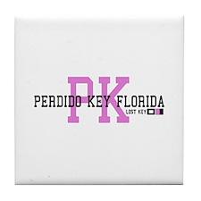 Perdido Key - Varsity Design. Tile Coaster