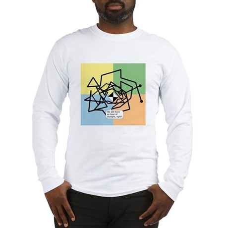 waypoint_path_white Long Sleeve T-Shirt