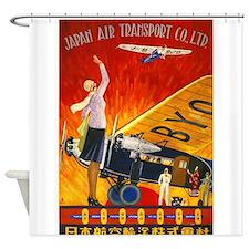 Japan, Travel, Vintage Poster Shower Curtain