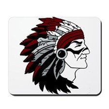 Native American Chief with Red Headdress Mousepad