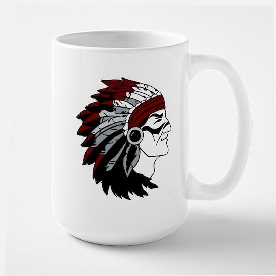 Native American Chief with Red Headdress Mug