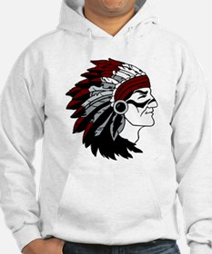 Native American Chief with Red Headdress Hoodie