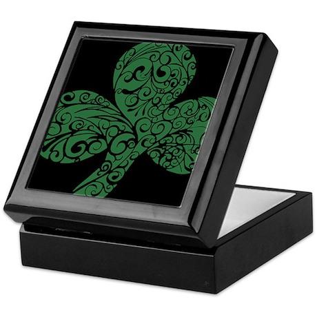 Shamrock Curl Design Keepsake Box