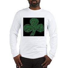 Shamrock Curl Design Long Sleeve T-Shirt