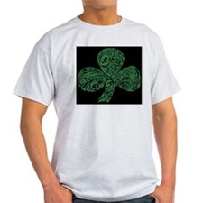 Shamrock Curl Design T-Shirt