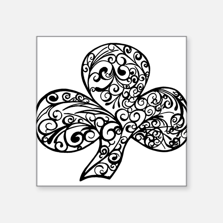 Shamrock Curl Design Sticker
