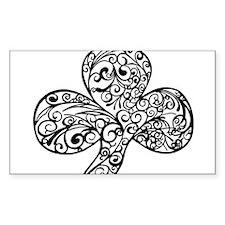 Shamrock Curl Design Decal