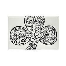 Shamrock Curl Design Rectangle Magnet
