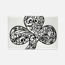 Shamrock Curl Design Rectangle Magnet