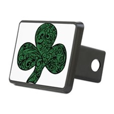 Green and Black Shamrock Design Hitch Cover