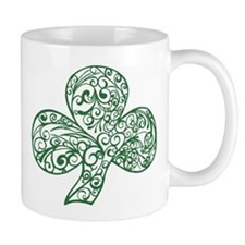 Green Shamrock Curl Design Mug