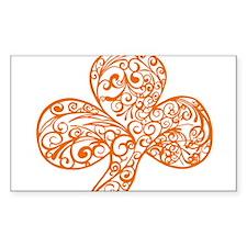 Orange Shamrock Curl Design Decal